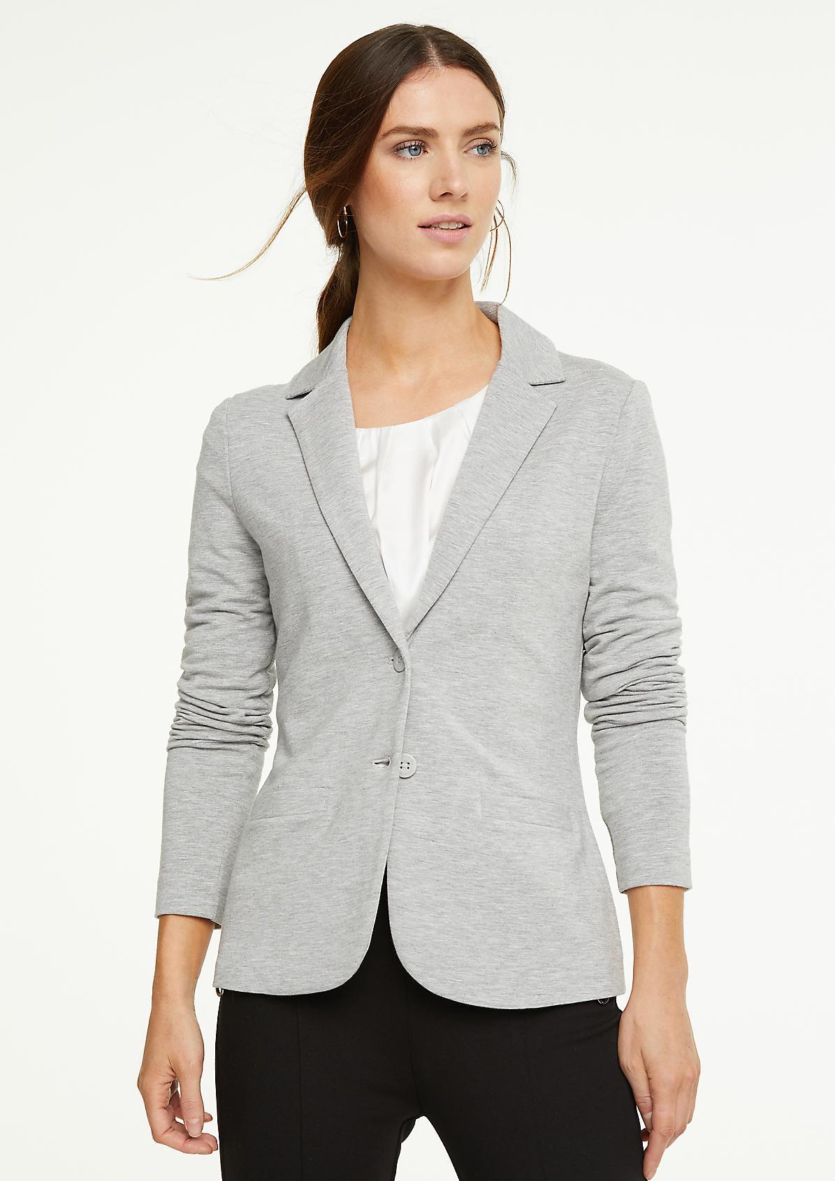 Stretch blazer made of sweatshirt fabric from comma