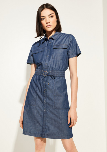 Denim dress with linen from comma