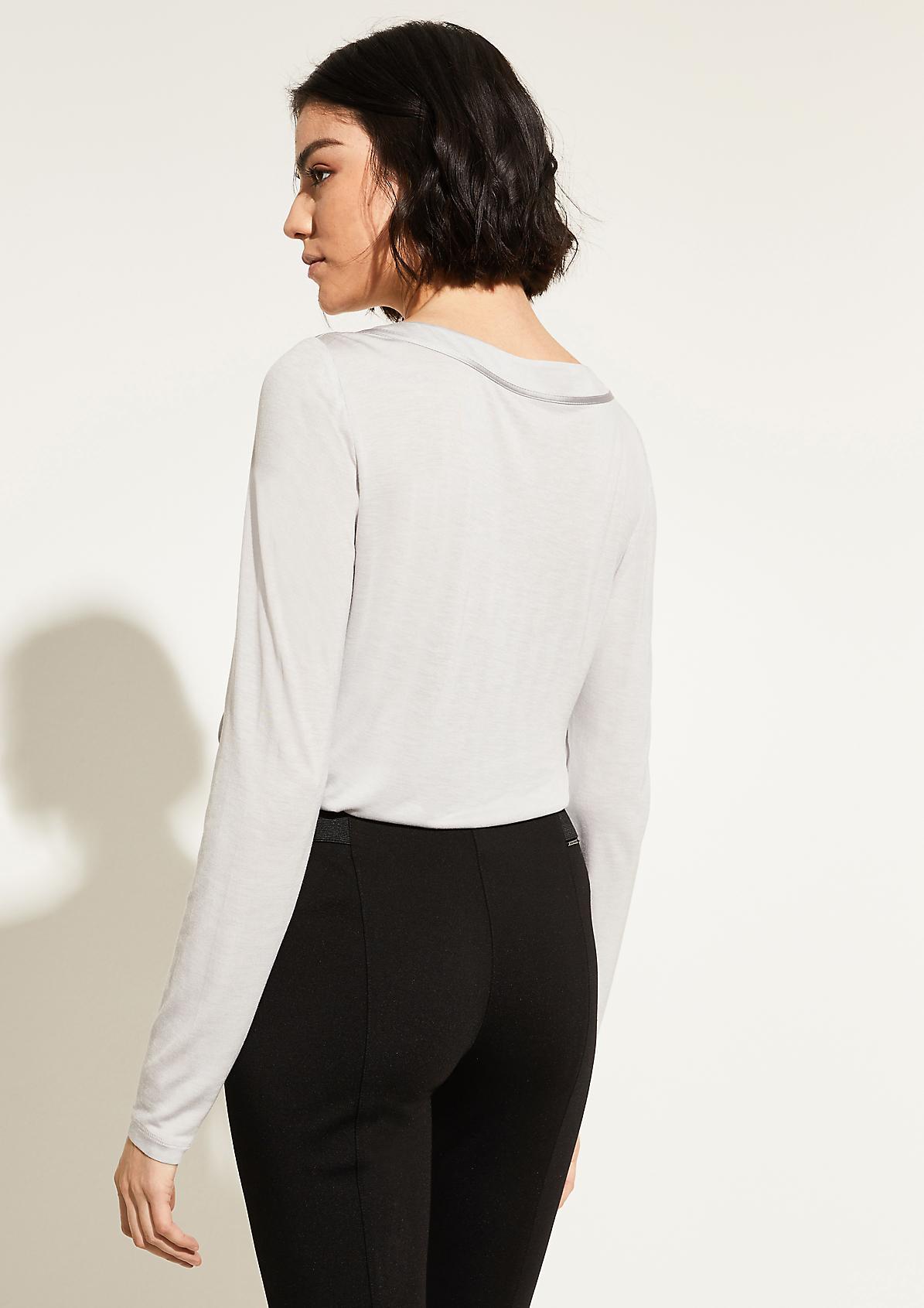 Langarmshirt mit Satin-Front