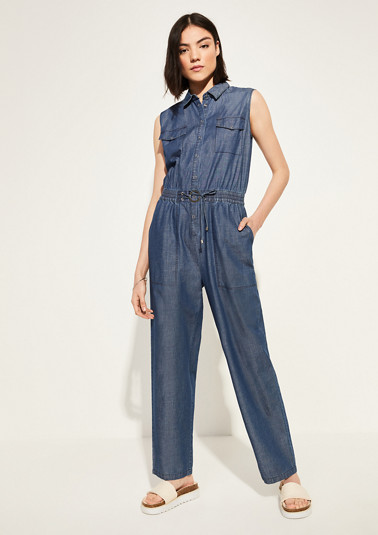 Lightweight jumpsuit with ties from comma
