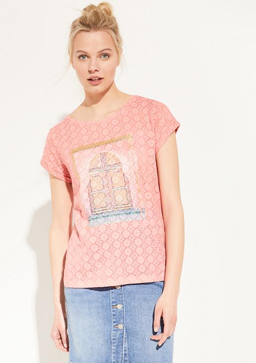 T-Shirt mit Ausbrennermuster
