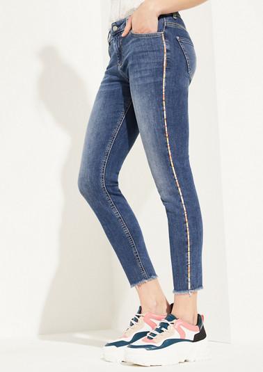 Skinny Fit: Jean à bande décorative de Comma