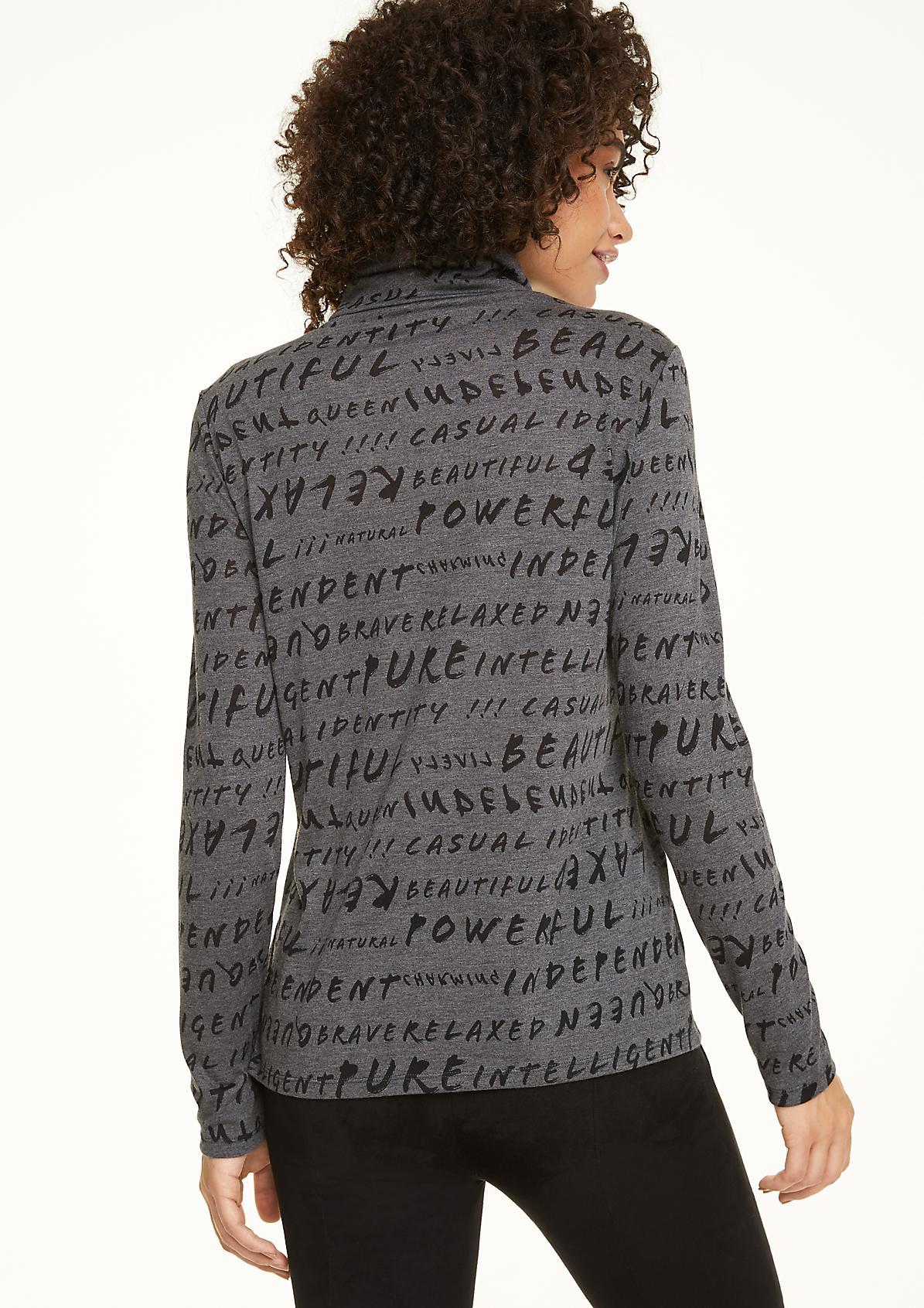 Langarmshirt mit Struktur-Statement