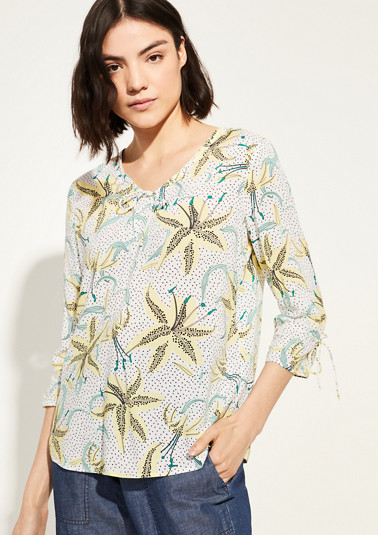 Blouse with a drawstring from comma