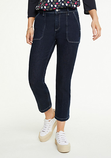 Slim Fit: Straight crop leg-Jeans