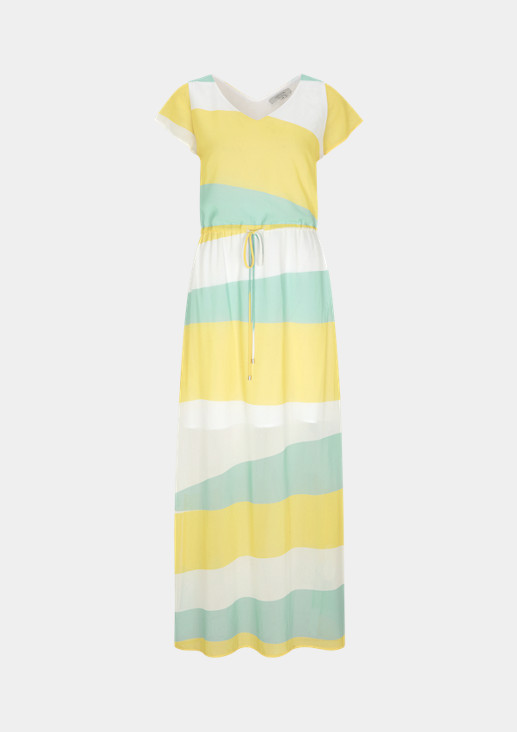 Chiffon dress with a drawstring from comma