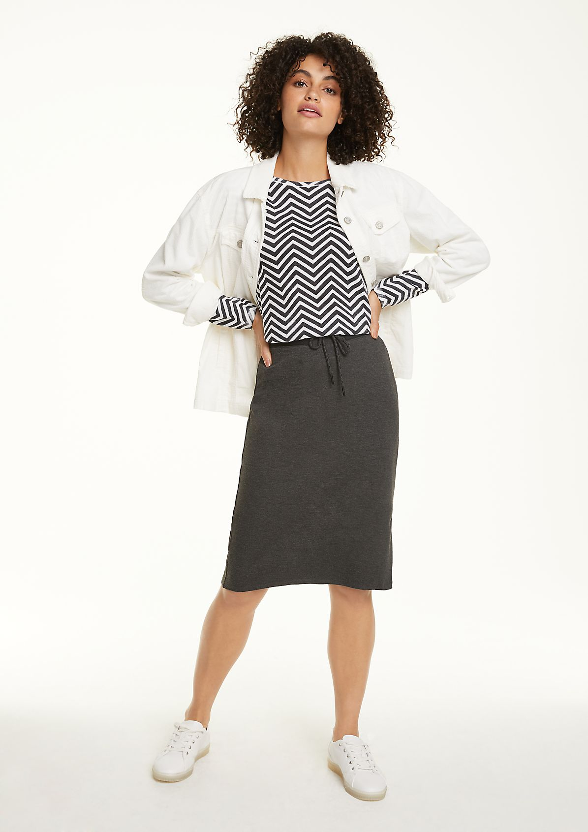 Athleisure jersey midi skirt from comma