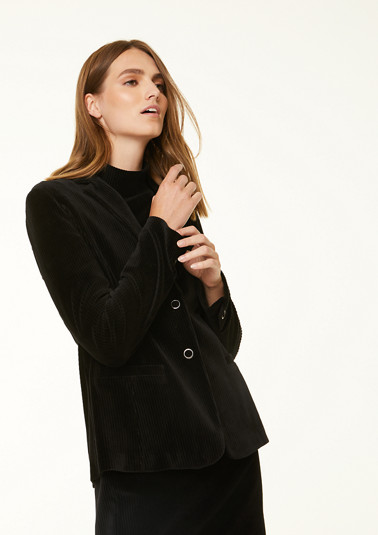 Blazer with satin detail on the collar from comma