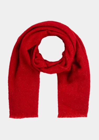 Uni-Schal aus Bouclé