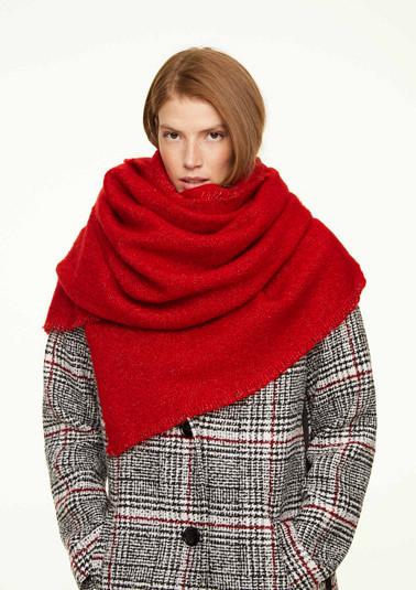 Plain bouclé scarf from comma