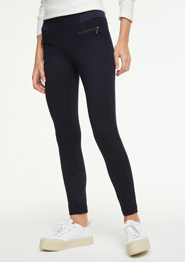 Slim Fit: Hose mit Zipper-Details