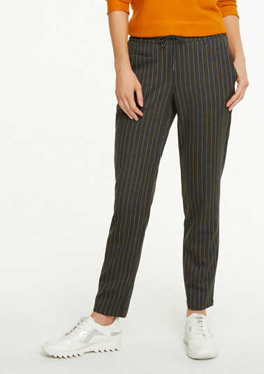 Tracksuit-style striped trousers from comma