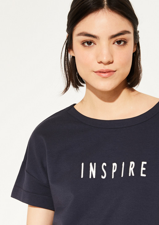 O-Shape-Sweatshirt mit Stickerei
