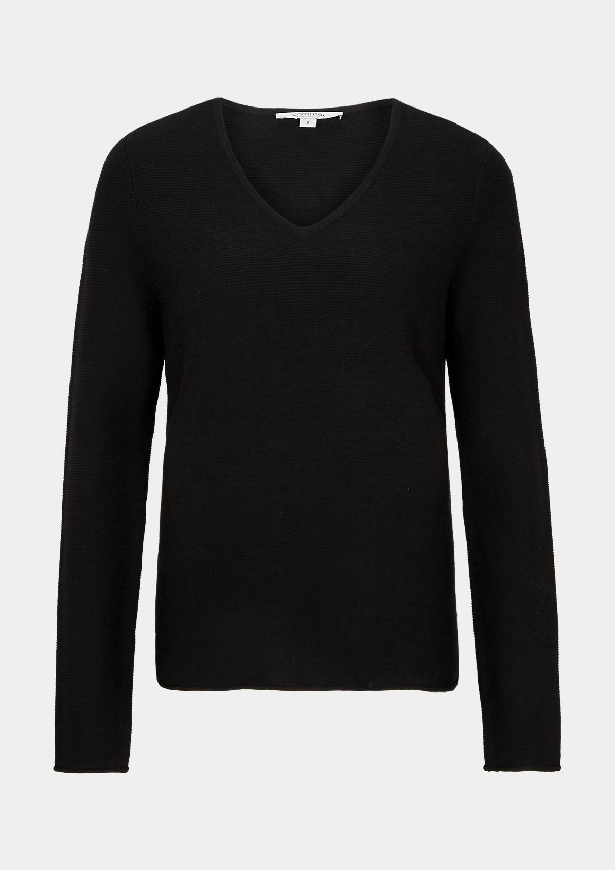 comma Fine knit V neck jumper