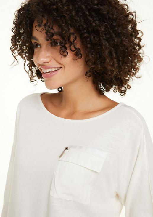 Jerseyshirt mit Tape-Detail