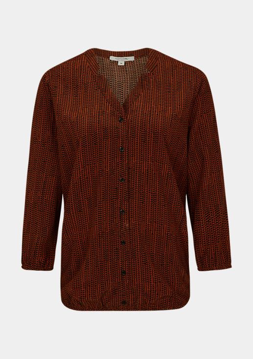 O-Shape-Bluse mit Reverskragen