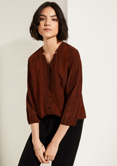 O-shaped blouse with a lapel collar from comma