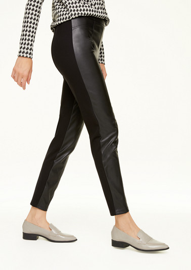 Skinny Fit: Leggings im Fabric Mix