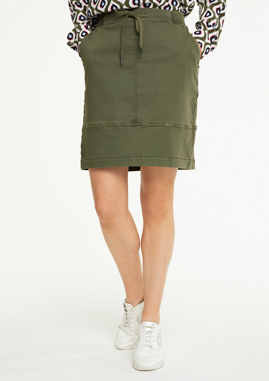 Short skirt with a ribbed waistband from comma