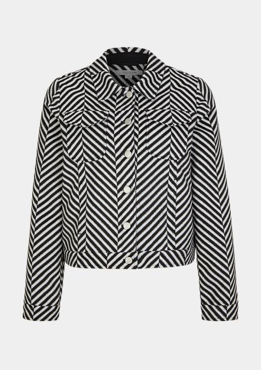 Jacke mit Stripes-Muster