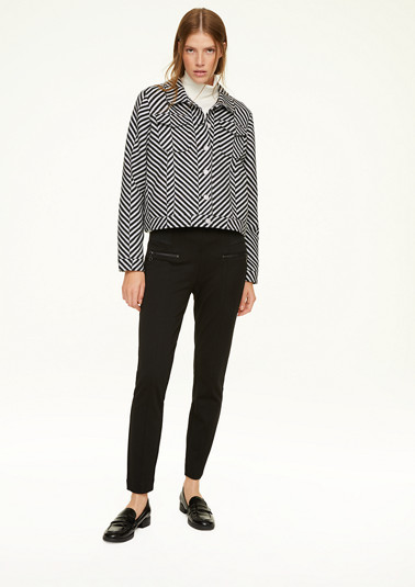 Jacket with a striped pattern from comma