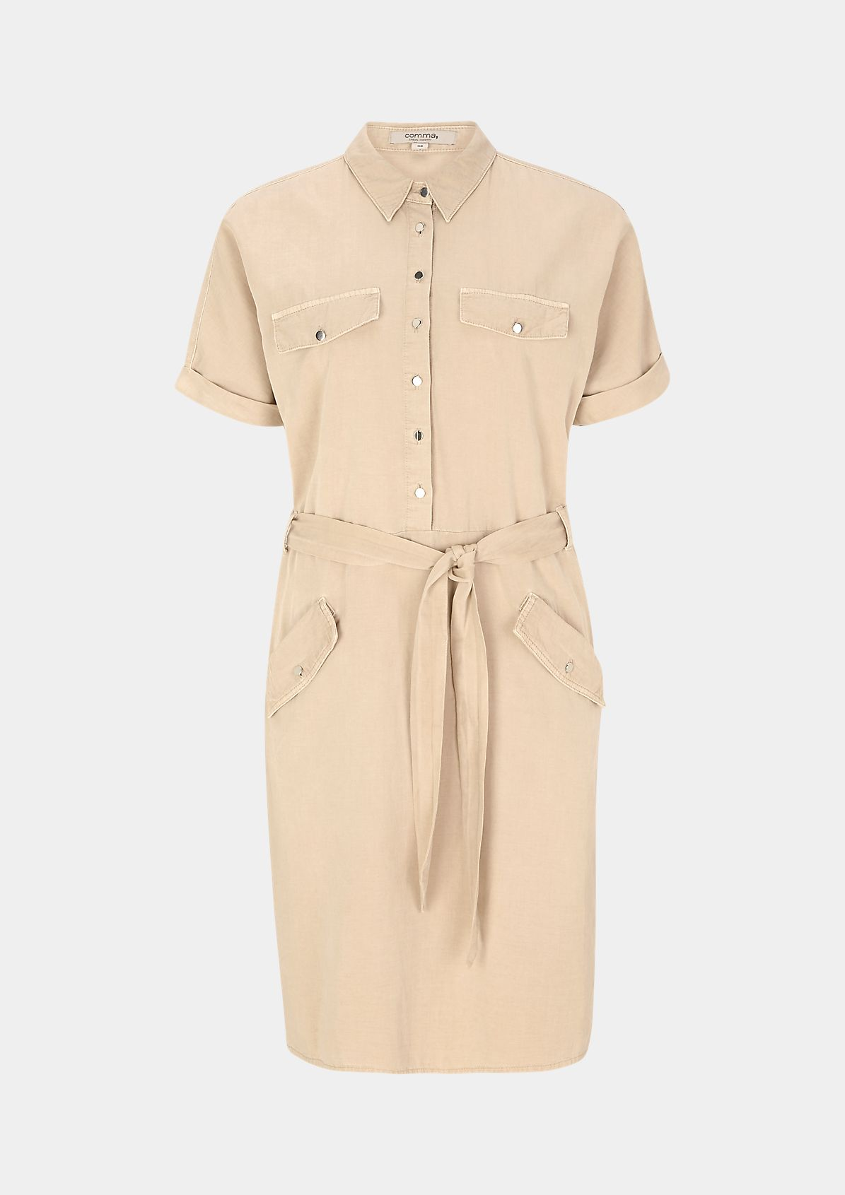 Hemdblusenkleid aus Sommer-Twill