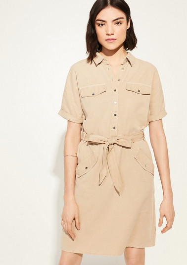 Shirt dress made of summer twill from comma