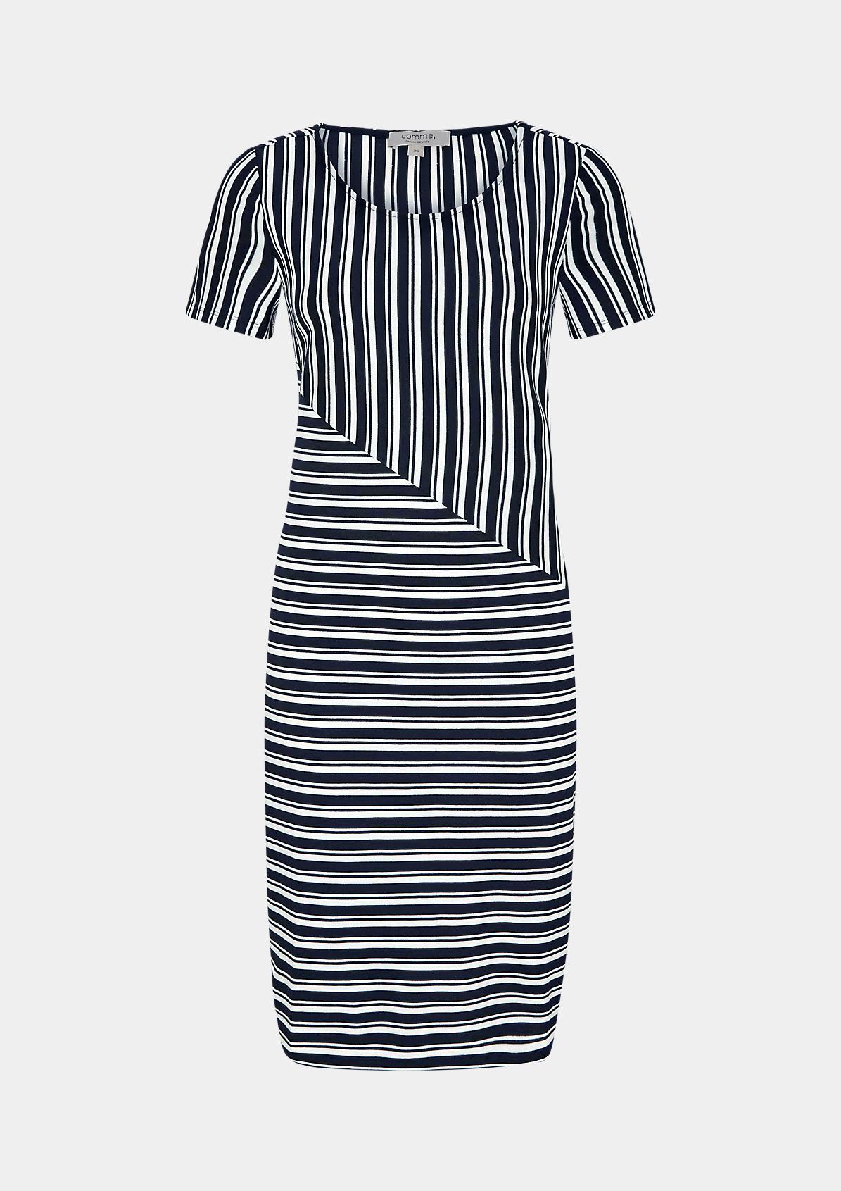 Jerseykleid mit Streifenmuster