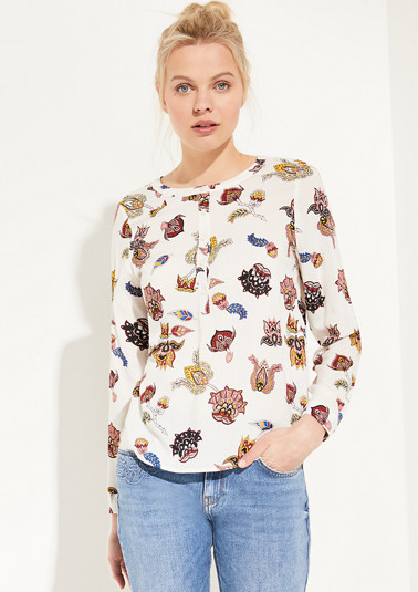 Blouse with a an ornamental pattern from comma