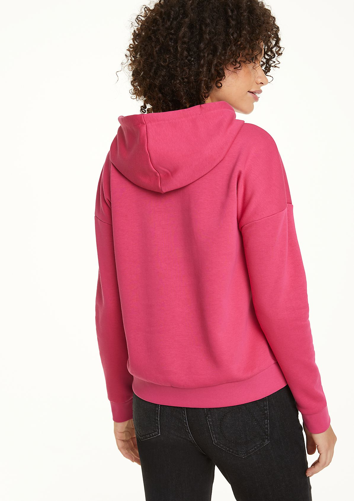 Hooded sweatshirt with a stylish logo print from comma