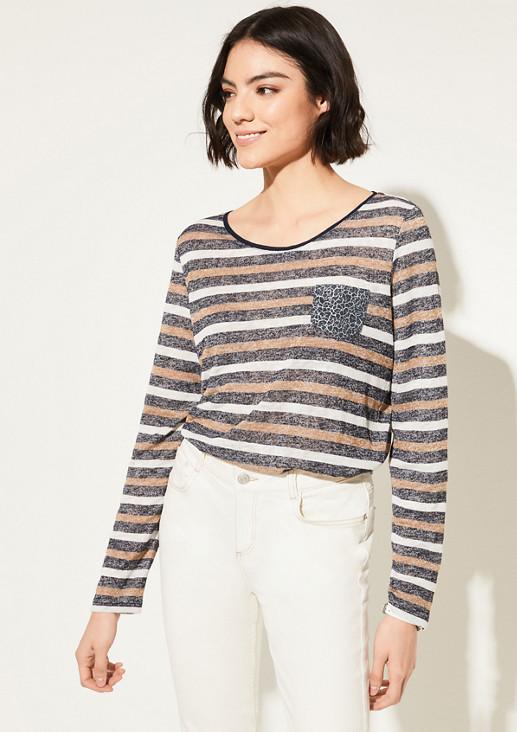 Flammgarnshirt mit Fancy Pocket