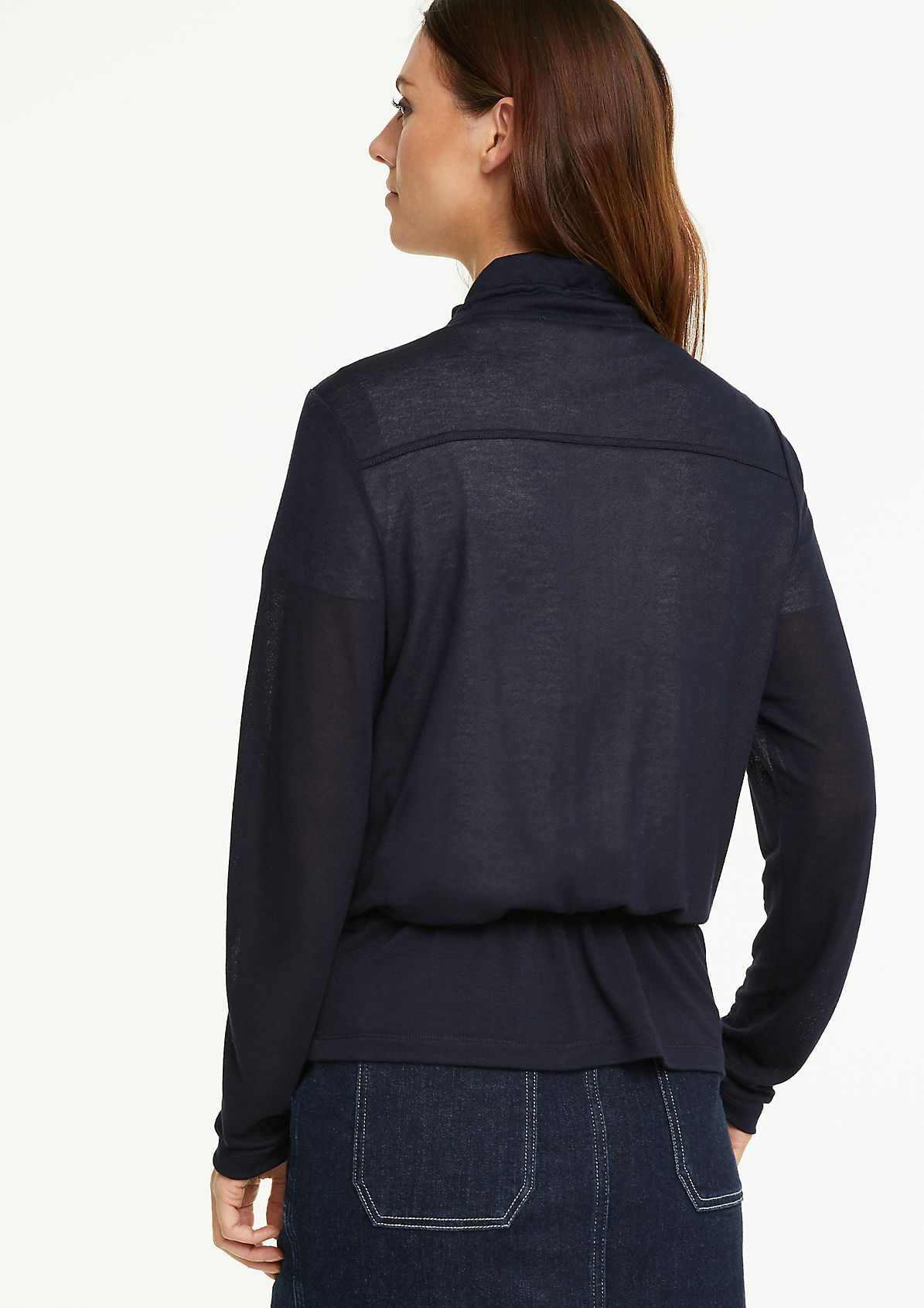 Knit jersey drawstring jacket from comma