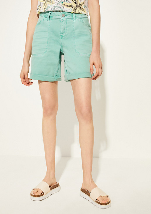 Regular Fit: twill shorts from comma