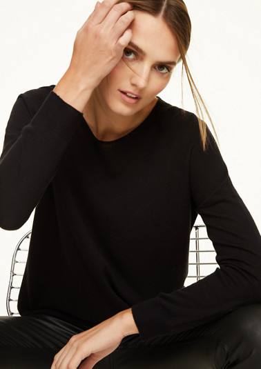 Softer Pullover mit Wollanteil