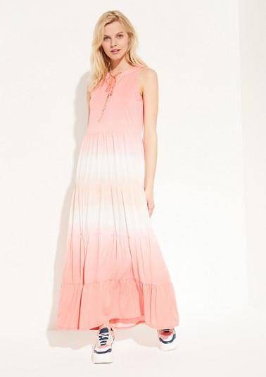 Kleid mit Dip Dye-Effekt