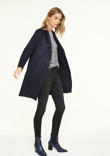 Faux suede blazer from comma