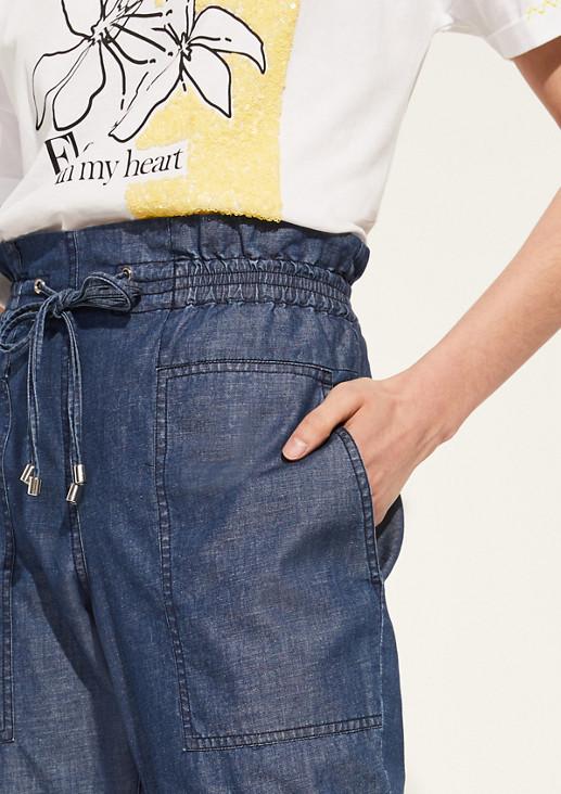 Regular Fit: Hose aus Twill