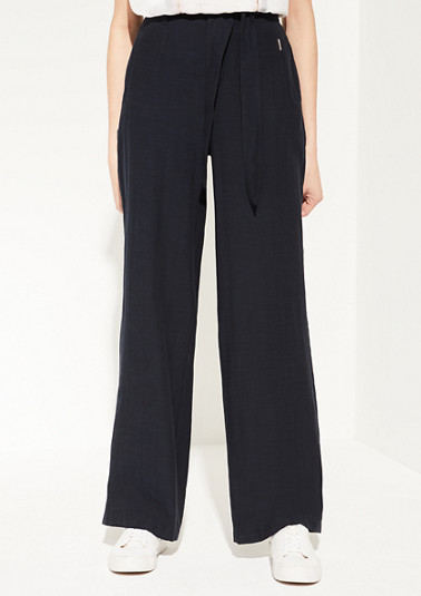 Regular Fit: lyocell blend trousers from comma