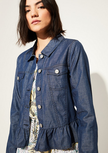 Lightweight jacket with a frilled trim from comma