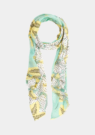 Scarf with a printed pattern from comma