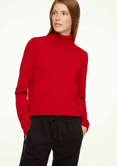 Polo neck jumper from comma