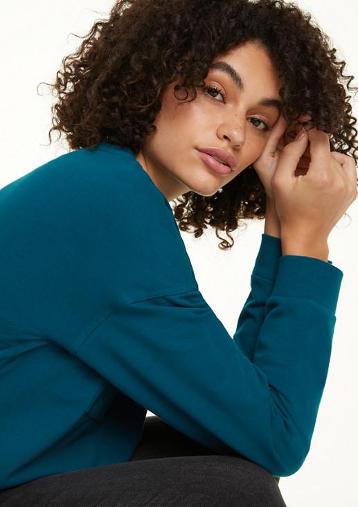 Sweatshirt mit Baumwoll-Insert