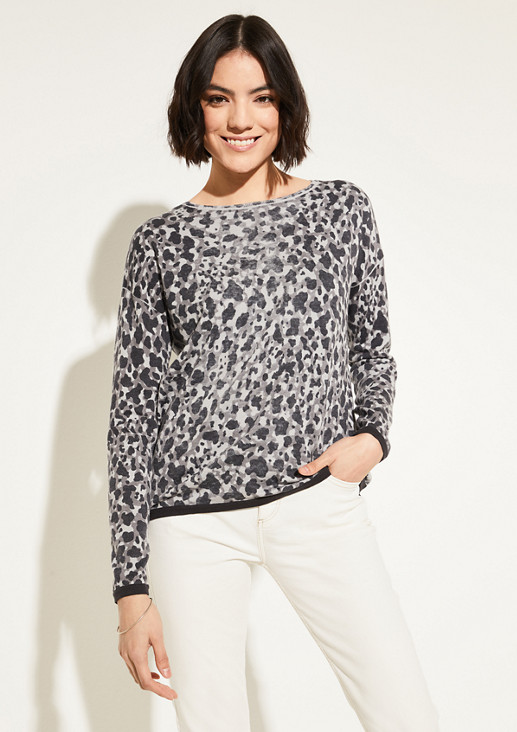 Pullover mit Inside-Out-Printmuster