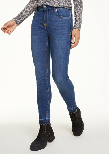 Skinny Fit: jeans with studs from comma