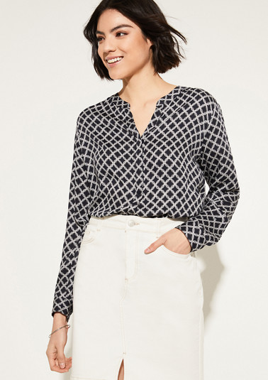 Patterned tunic blouse from comma
