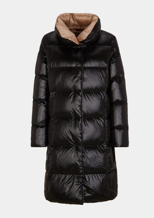 Puffer Coat aus schimmerndem Nylon