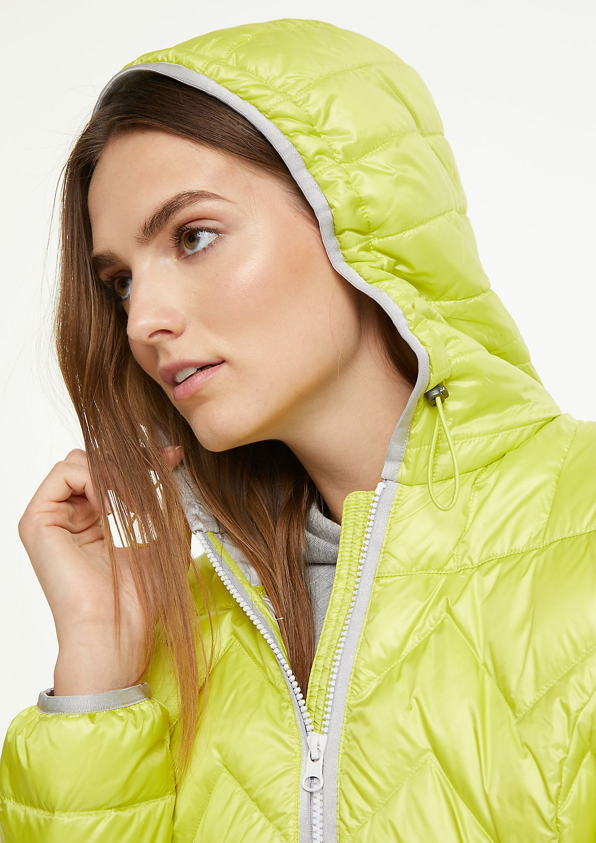 Steppjacke in Metallic-Optik