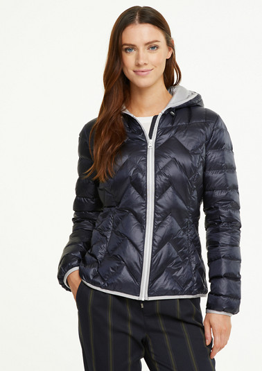 Quilted jacket in a metallic look from comma