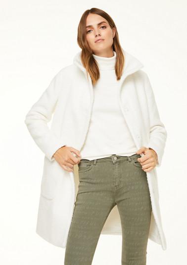 O-Shape-Mantel mit Stehkragen