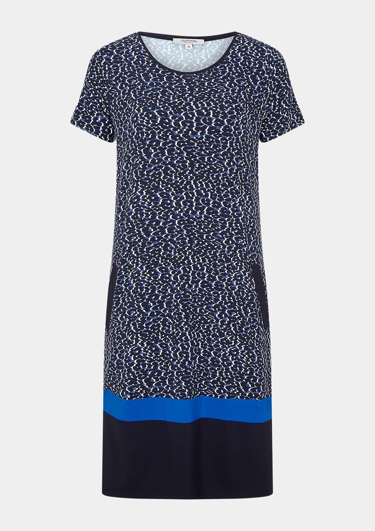 Shirtkleid mit Kontrast-Details